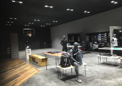 Aménagement magasin Nike Europe Basket temple Bordeaux 1 Arana architecture
